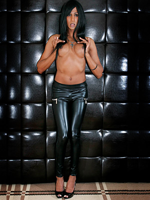 Shemale leather pants